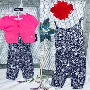 Limited Too 🌸 3 Piece Romper and Cardigan Set